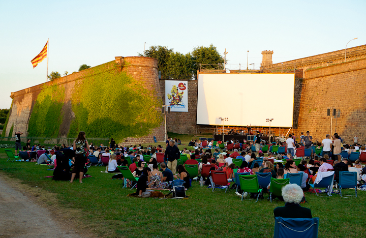 Montjuic's Open Air Cinema Festival in Barcelona