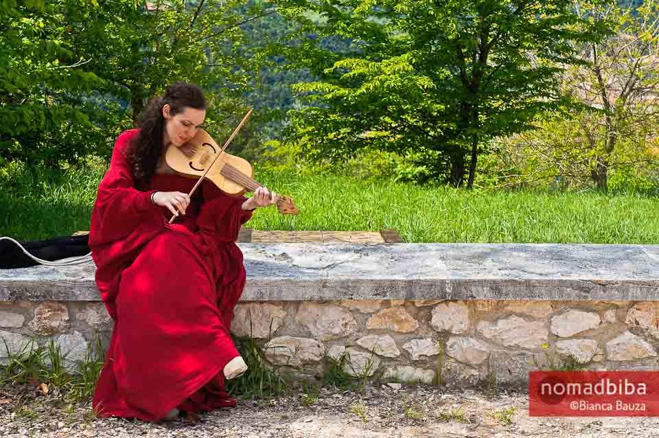 Playing in Narni, Italy