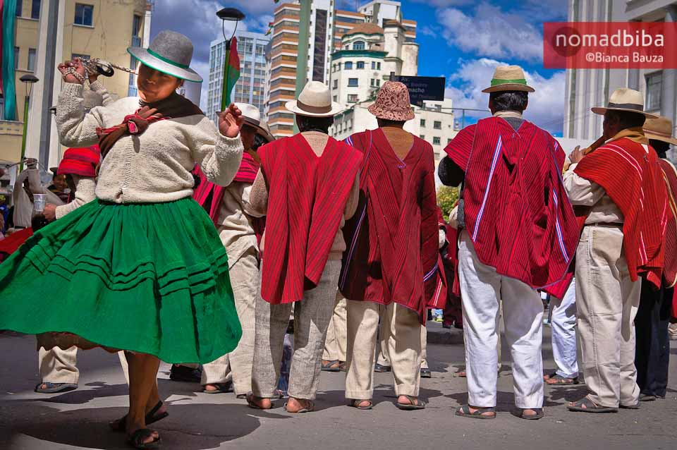 Third Festival of Folk Music & Dances in La Paz, Bolivia