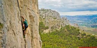 Peter Parkorr rock climbing in El Chorro, Spain