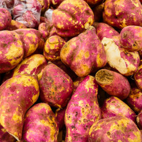 Potatoes at a market in San Jose, Costa Rica