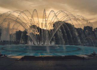 Fountain at the Magic Water Circuit in Lima, Peru