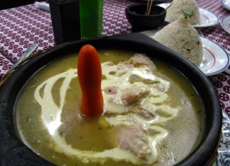 Ajiaco at Restaurante Bururake