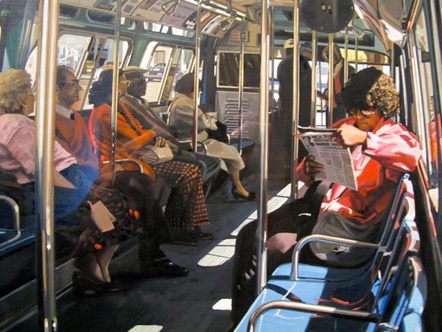 El autobús de Broadway en la calle Liberty