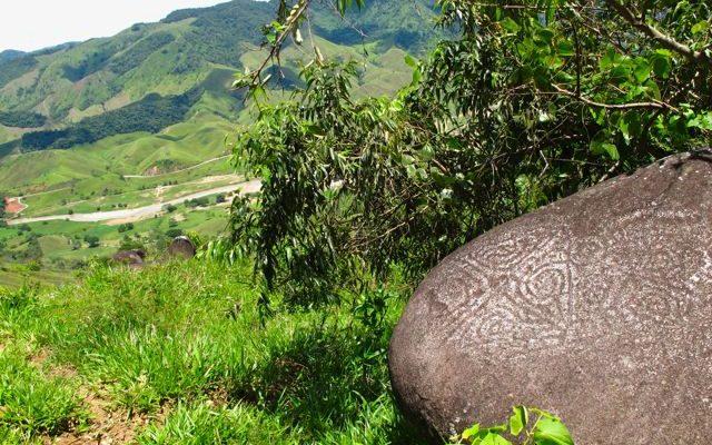 Petroglyphs around Yolombó, Colombia