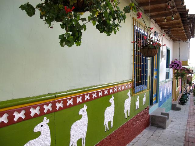 Hand-painted frescoes in Guatape (Antioquia), Colombia