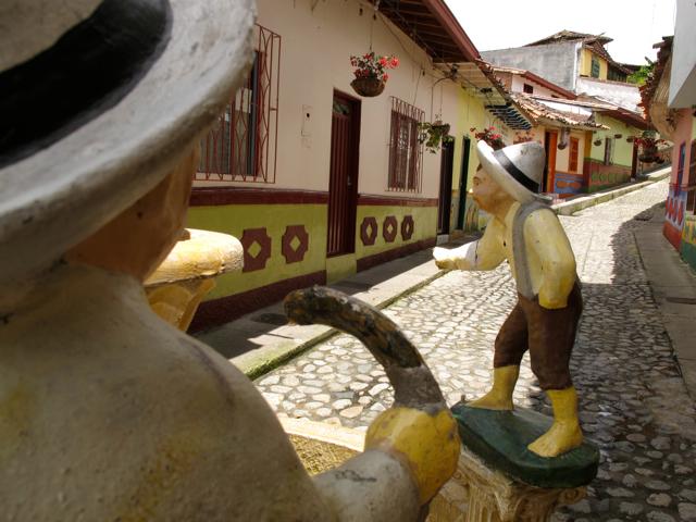 Fountain in Guatape
