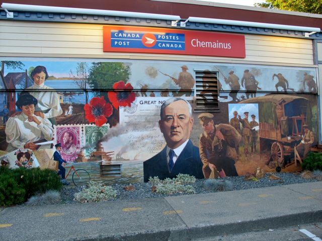 Post Office in Chemainus BC, Canada