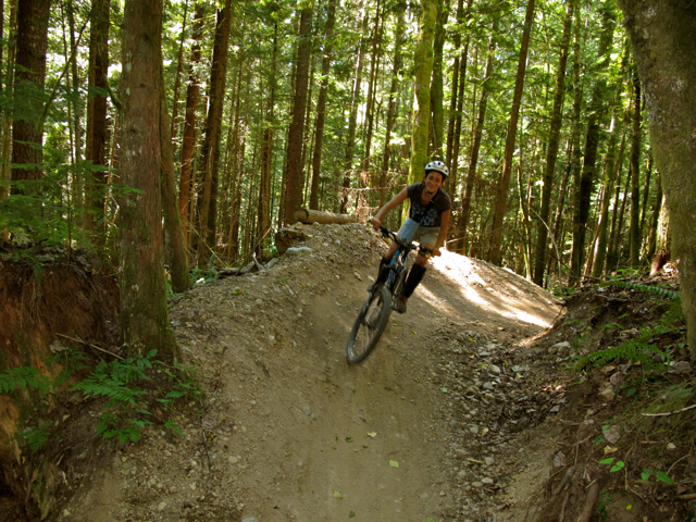 Mountain biking in Squamish