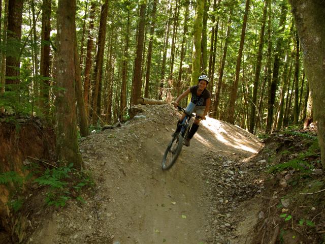 Mountain biking in Squamish