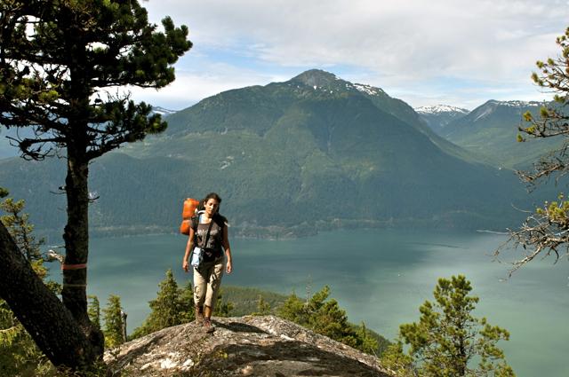 Hiking to Leading Peakin Anvil Island, Howe Sound BC (Canada)