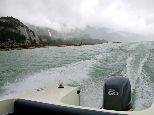 The boat ride back to Squamish from Anvil Island