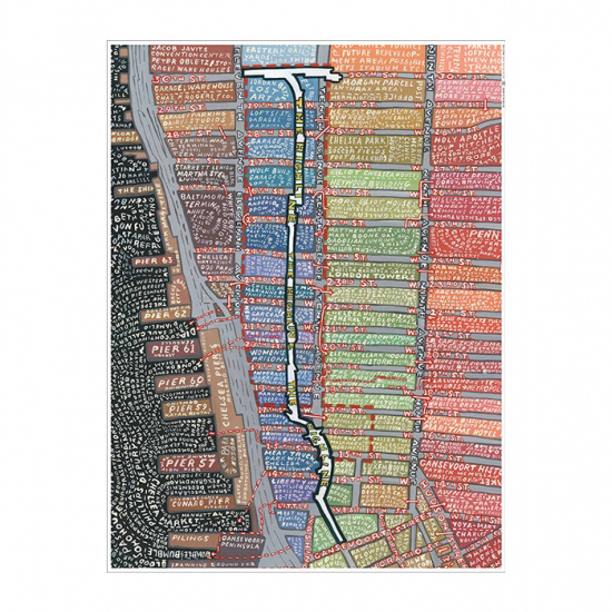 Paula Scher High Line Map