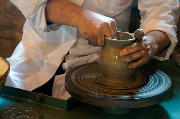 Ceramic making in Gubbio (Umbria) Italy