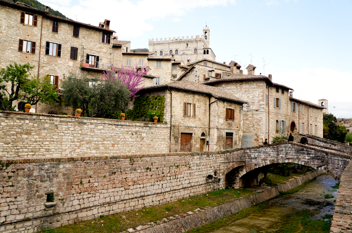 The town of Gubbio in Umbria, Italy