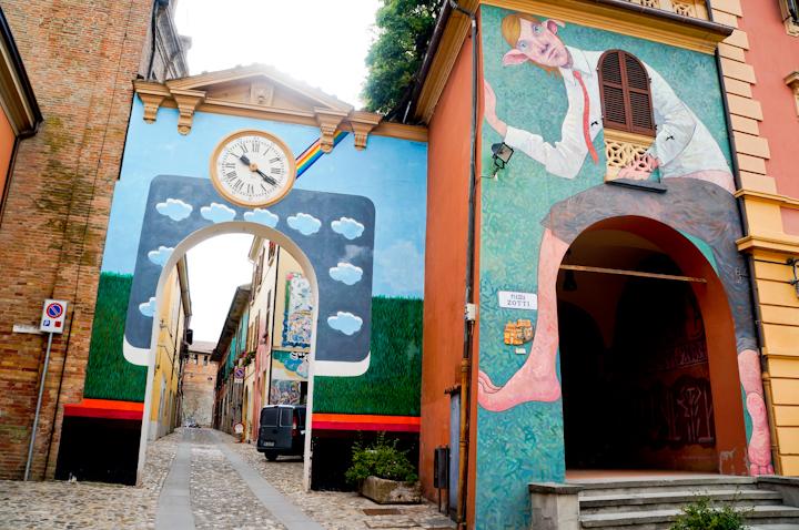Murals in Dozza, near Bologna (Italy)