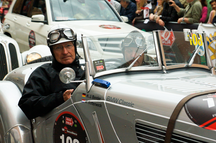 Hans-Joachim Bender at the 2012 MIlle Miglia in Italy