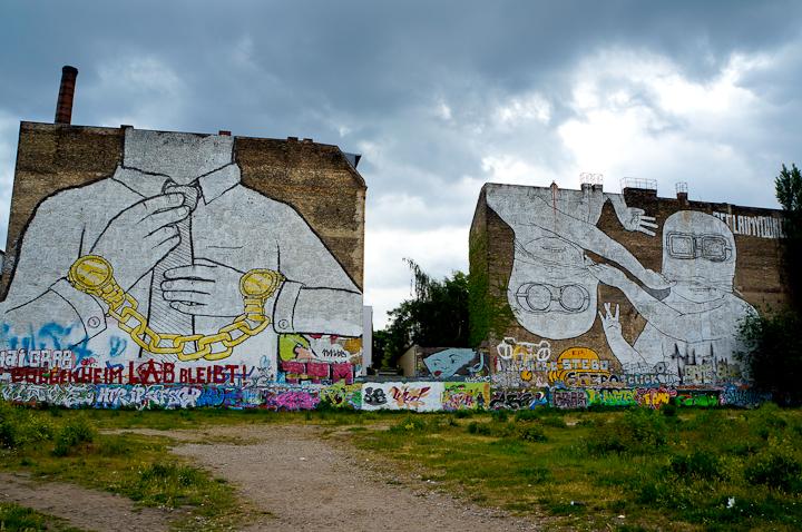 Berlin Street art by Blu