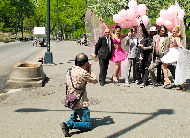 Photographing in Central Park, New York