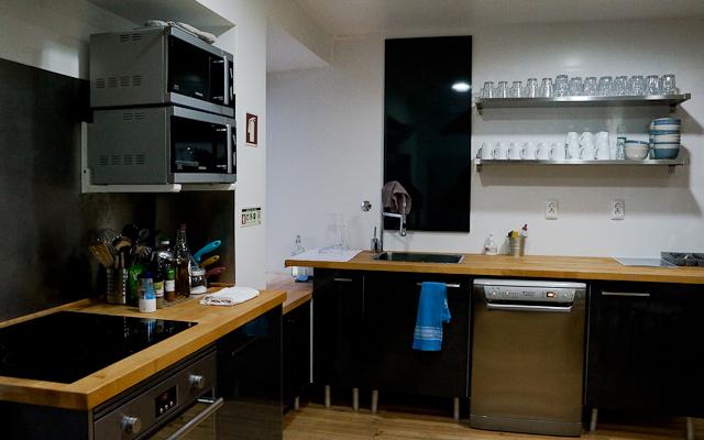 Kitchen at the Stay Inn Lisbon Hostel