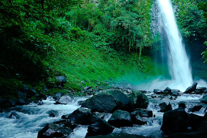 Taking a Break at La Fortuna Waterfall