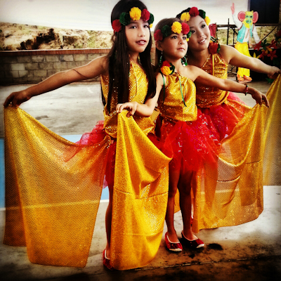 Kids dressed up for carnival in Barranquilla (Colombia)
