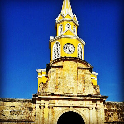 The Clock Tower in Cartagena (Colombia)