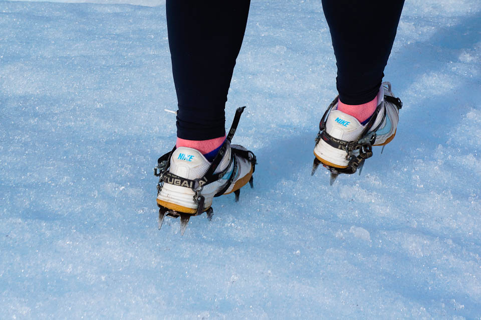 No proper gear required for Perito Moreno glacier