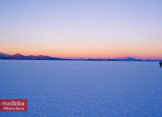 Sunrise in the Salar de Uyuni, Bolivia