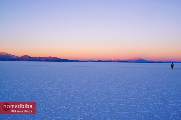 Sunrise in the Salar de Uyuni, Bolivia