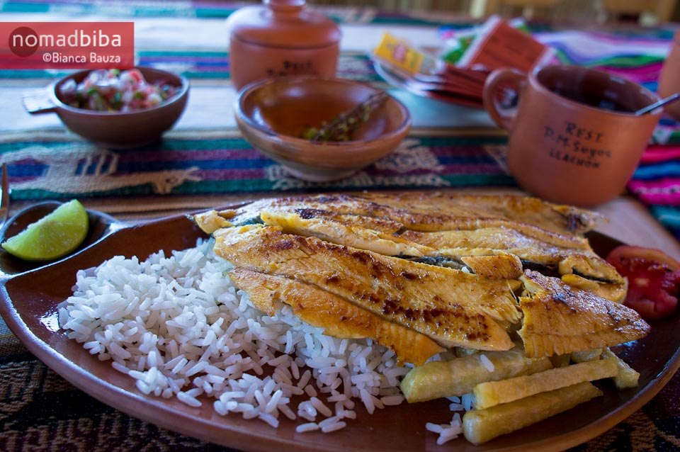 Lunch in Llachón (Capachica), Peru