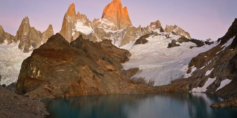 Fitz Roy & Co. at sunrise in El Chaltén, Argentina