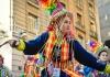 Dancing Tinku in Santiago, Chile