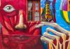 Street art in Valparaiso, Chile: Defos