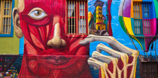 Street art in Valparaiso, Chile: Defos