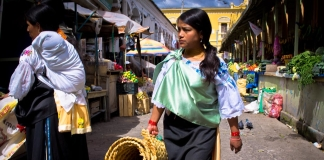 Shopping at the Otavalo market in Ecuador