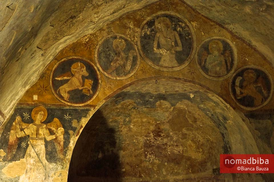 Frescoes in Narni Underground
