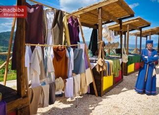 Craft fair at Rocca di Narni in Italy