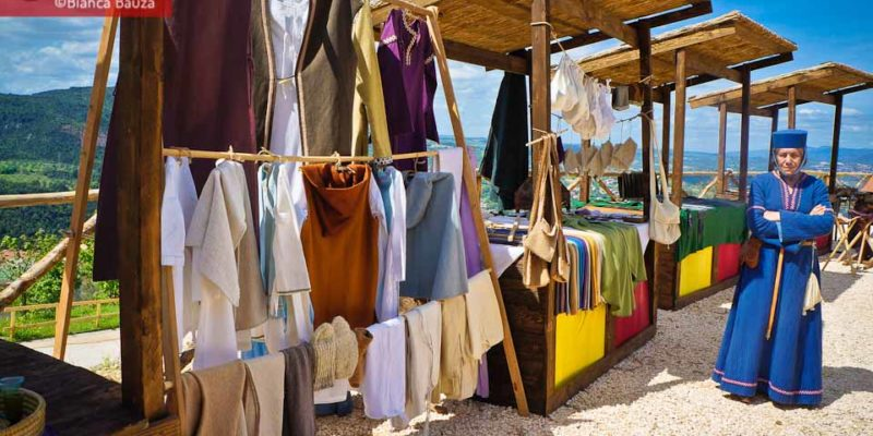 Craft fair at Rocca di Narni in Italy