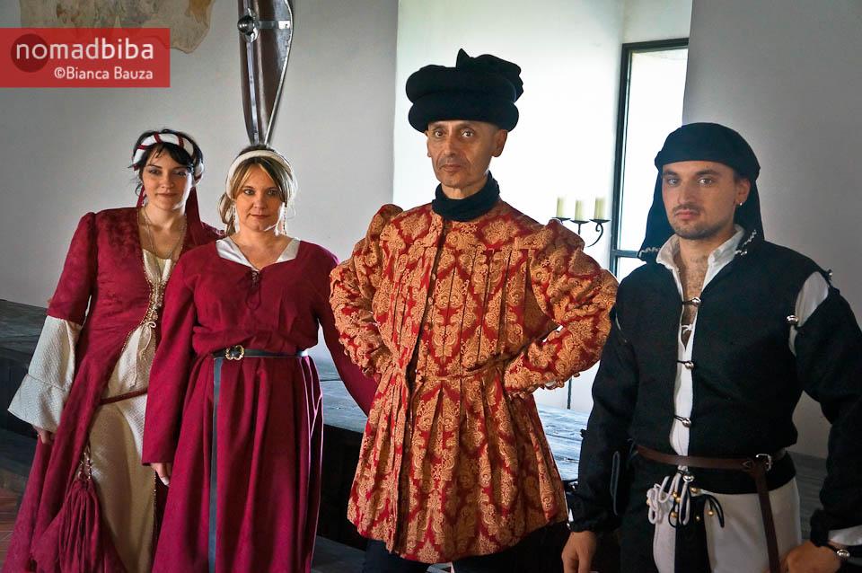 Bold fashion at the Rocca di Narni in Italy