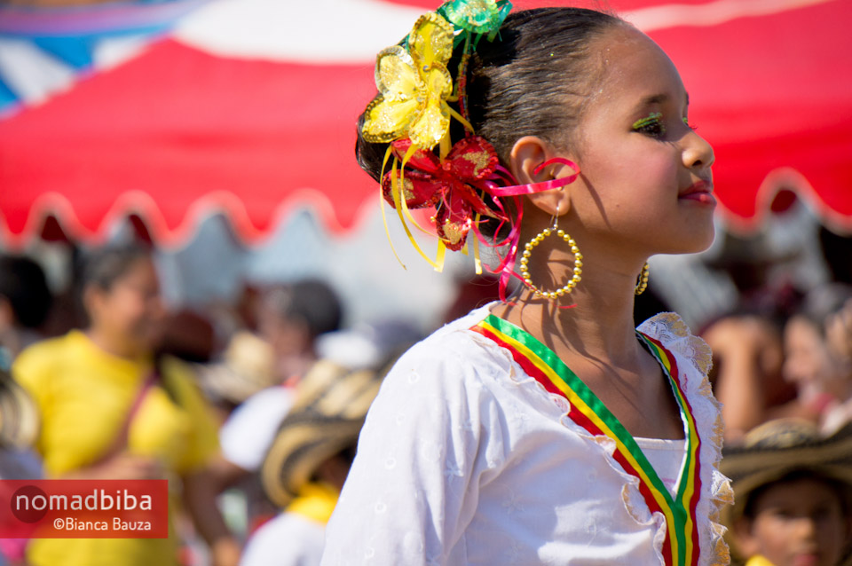 Girl at carnival in Barranquilla, Colombia