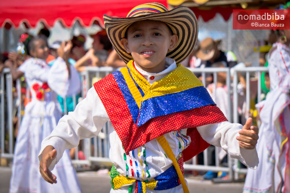 Boy at carnival in Barranquilla, Colombia