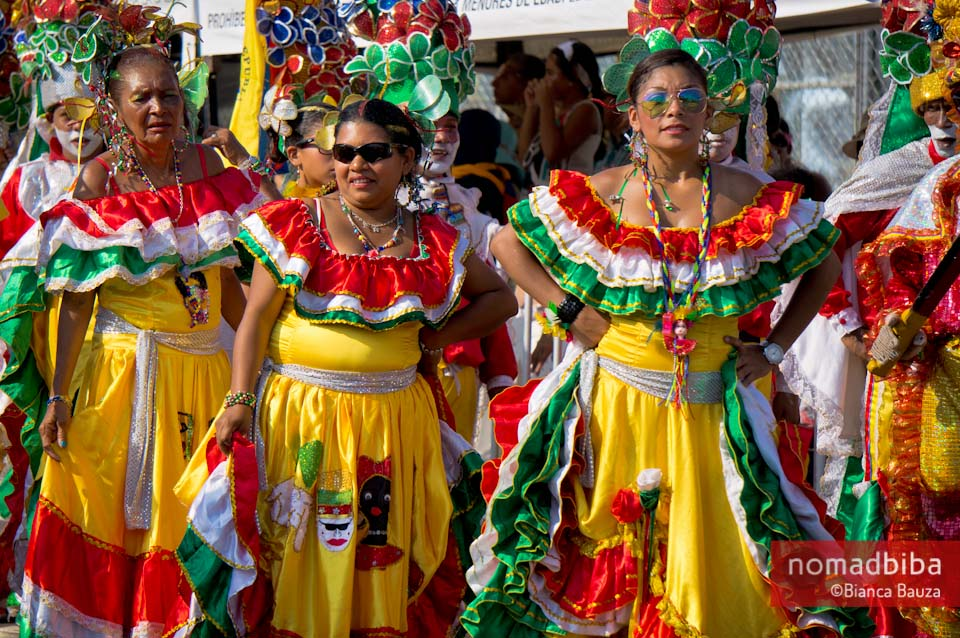 Cumbia dancers at carnival in Barranquilla, Colombia