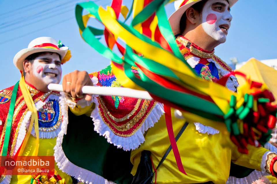 Dancing El Garabato at carnival in Barranquilla, Colombia