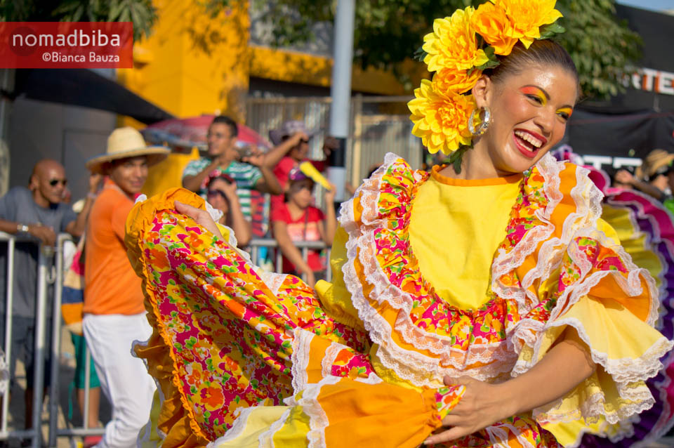 Cumbia dancing at carnival in Barranquilla, Colombia