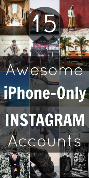 Pin iPhone-Only Instagram Accounts