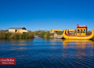 Uros floating islands in Peru