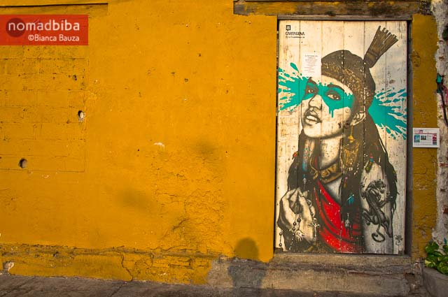 Street art by Fin DAC in Cartagena, Colombia