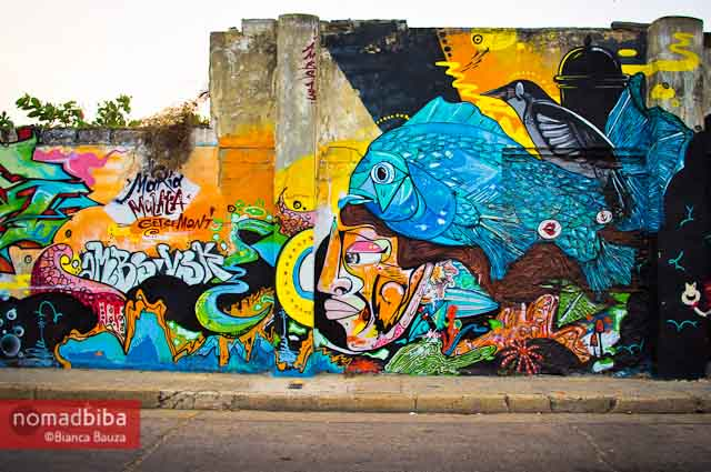 Mural by AMBS in Cartagena, Colombia