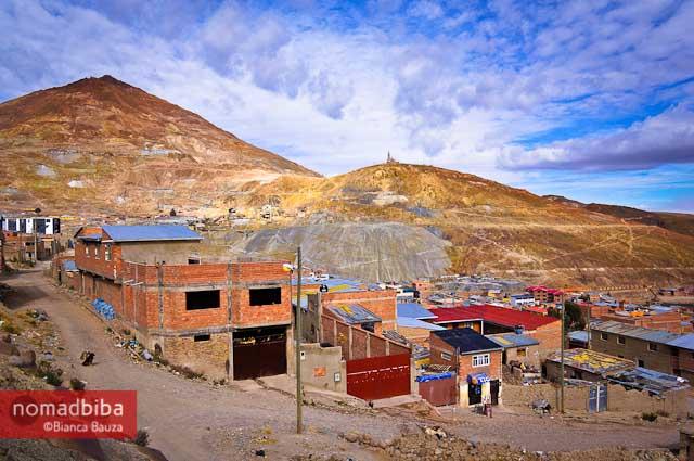 View of Cerro Rico in Potosí, Bolivia